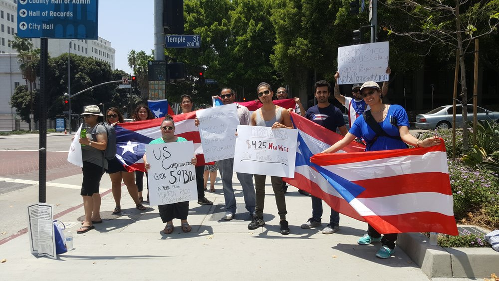 #NoLaJunta #NOPromesa - On June 26, 2016, rallied against Senate Bill 2328, PROMESA, in solidarity with rally's across Puerto Rico and the Nation. The protest was held outside the Federal Building in Downtown L.A.