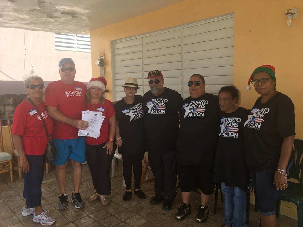 """Fuerza pa' Luquillo"" - On Dec 2017, The Luquillo community, Parroquia San José de Luquillo, and Cáritas Puerto Rico helped coordinate the event and put together volunteers in passing out supplies and help bring the community together."