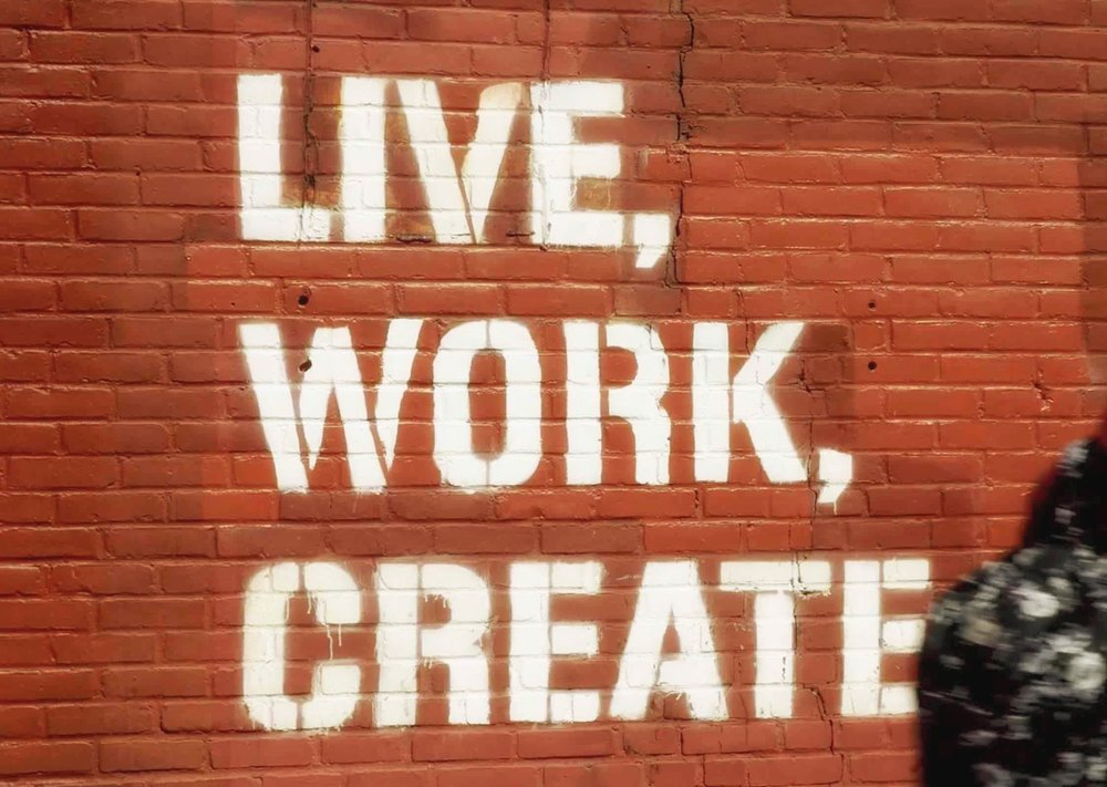Live and create besides working