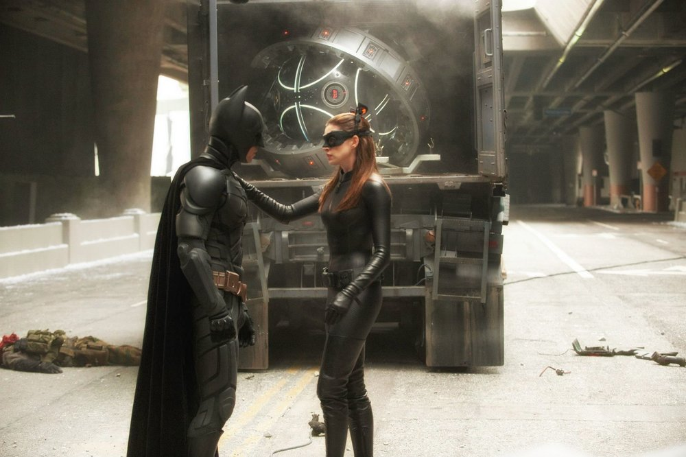 Batman and catwoman friendly chatting ;-)