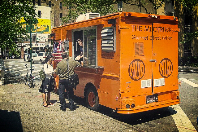 Mud Coffee  is a New York City-based coffee company that started by selling its own blend out of a converted van known as the Mudtruck in 2000. On weekdays, it frequents the intersection of  Astor Place ,  Lafayette Street , Fourth Avenue, and  Cooper Square  in the  East Village .