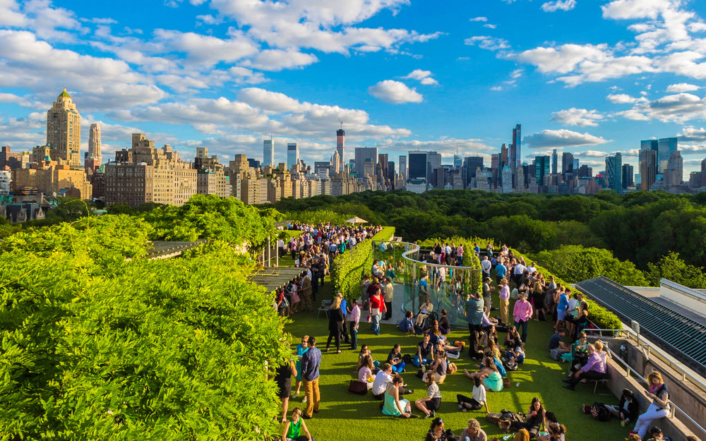 the metropolitan museum rooftop bar. photo: courtesy of the met