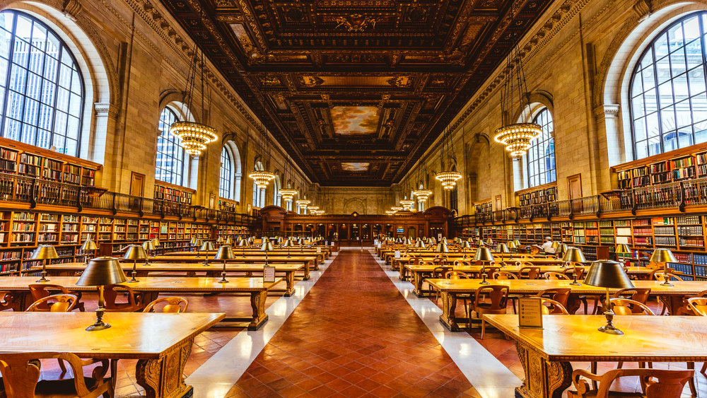 The New York Public Library's Rose Main Reading Room. photo: courtesy nypl
