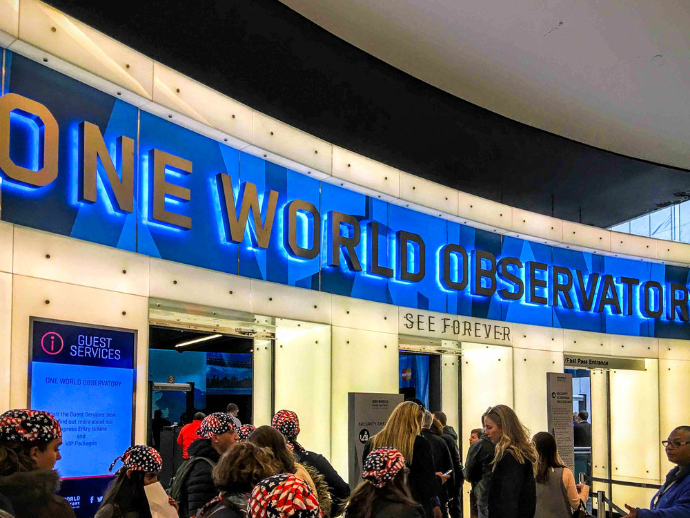 the entrance of the one world observatory. photo: lucas compan