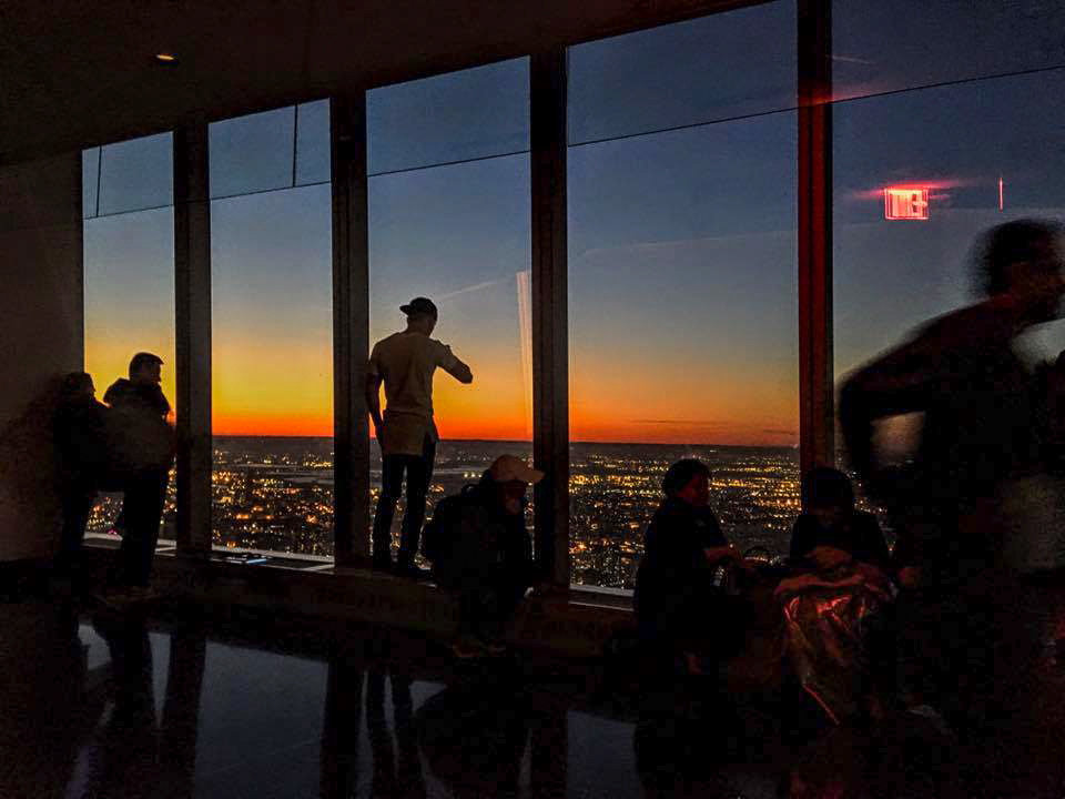 sunset from the 102nd floor of the one wtc. photo: lucas compan
