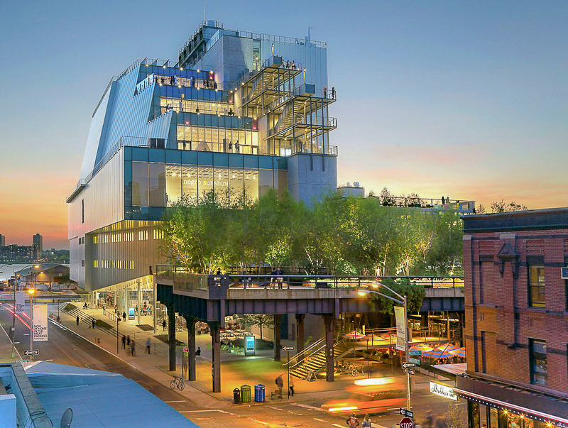 The new building of The Whitney Museum of American Art, at The High Line. Photo: Ed Lederman