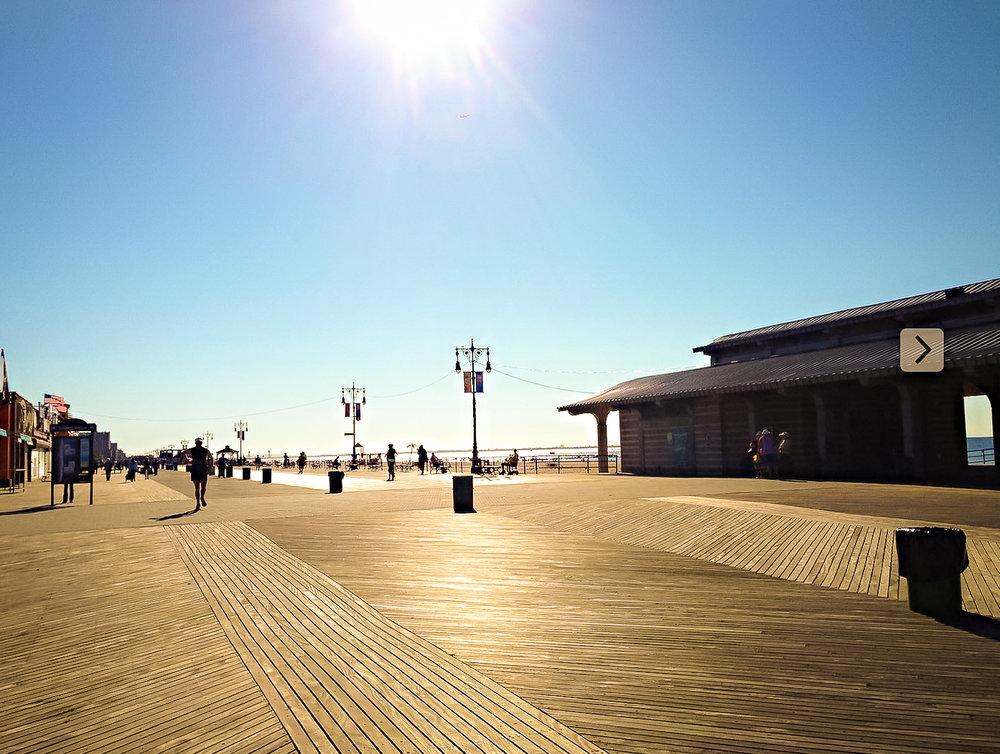 brighton beach boardwalk. photo by lucas compan