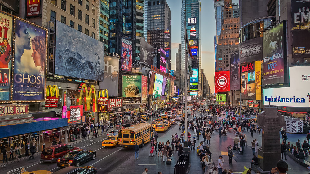 times square, new york city. photo: lucas compan