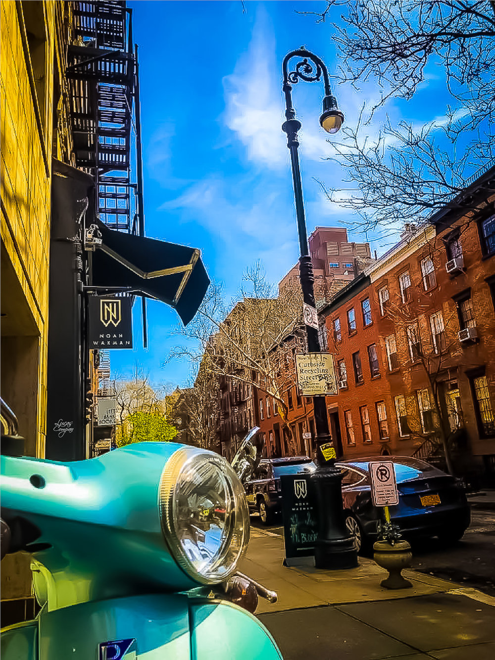 design meets function: the iconic vespa scooter beautifying the greenwich village, new york city. photo   @lucascompan
