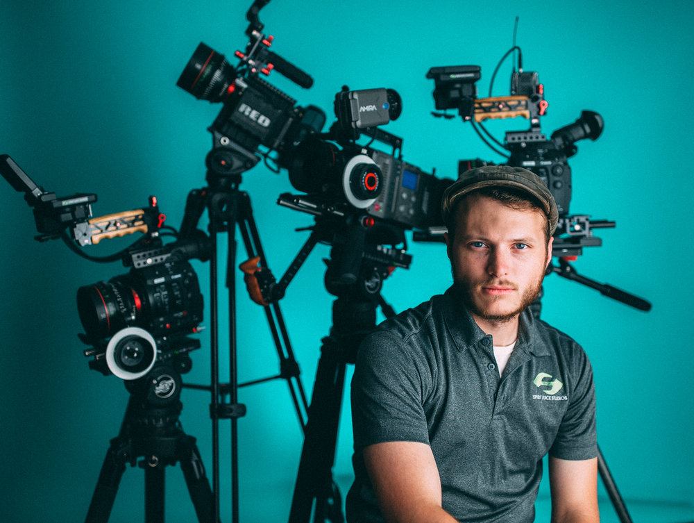 A few of the arsenal are situated behind me in this shot. 2x C300 Mark II's, 1x Red Epic Dragon, 1x Arri Amira.
