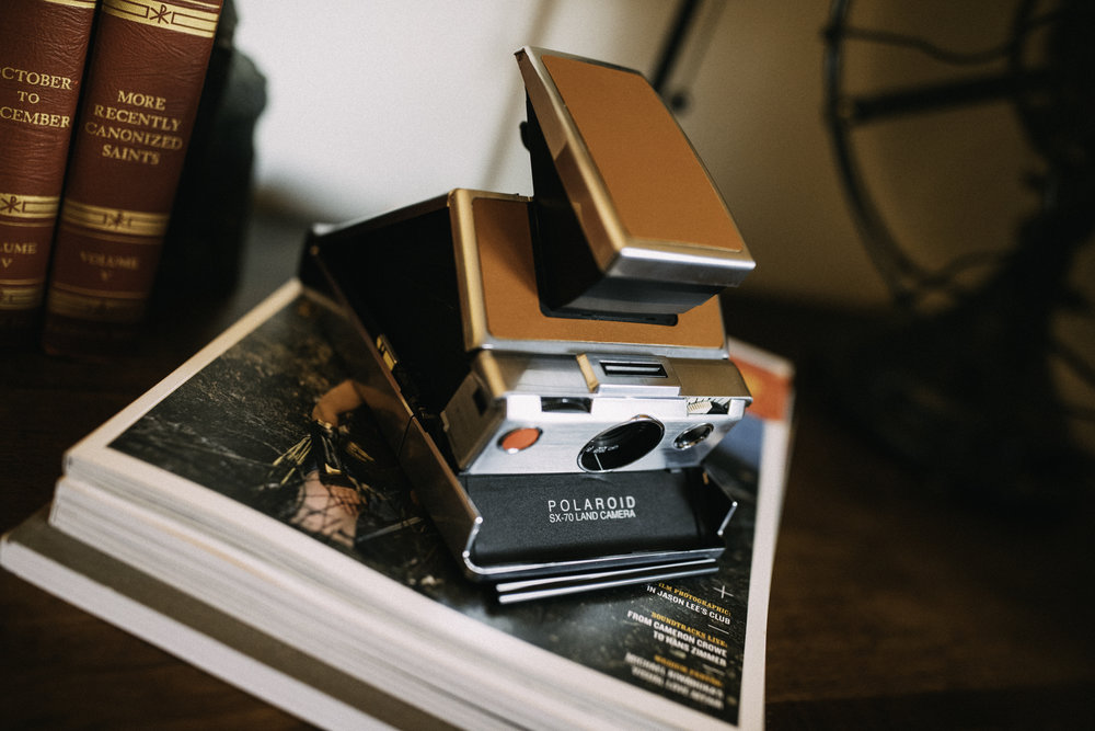 The Polaroid SX-70, a beautiful camera, a mechanical masterpiece, and a gamechanger. The instant photography game would never be the same.