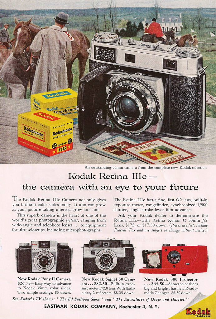 The Kodak Retina IIIC was the last of the folding Retinas, and the best of them all. From there, it only went down hill.