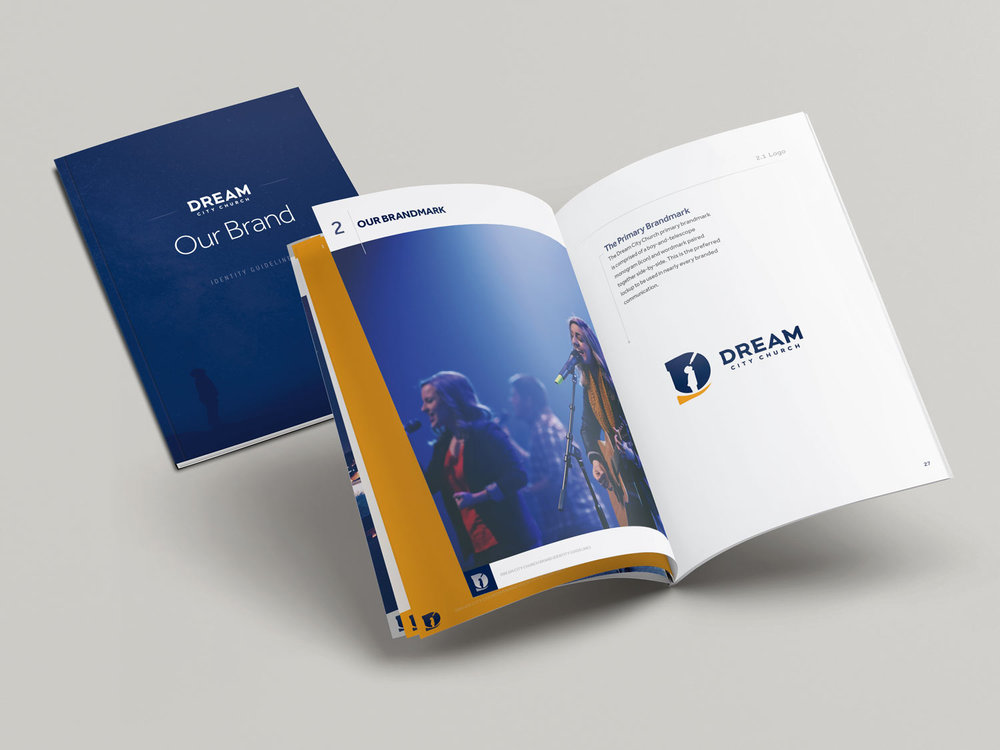Safeguarding the brand - The final step was to put together a comprehensive brand identity system guide book which clearly spelled out Dream City's vision language along with instructions on how to effectively put the full identity system to use.