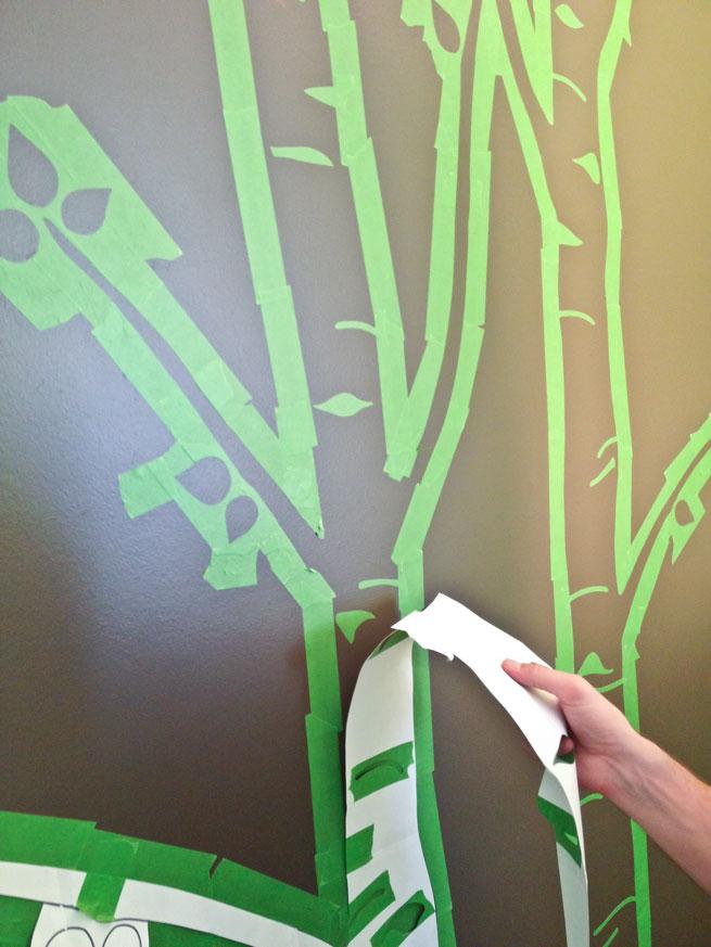 nursery mural step 9