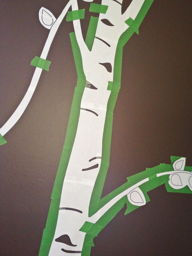 nursery mural step 6