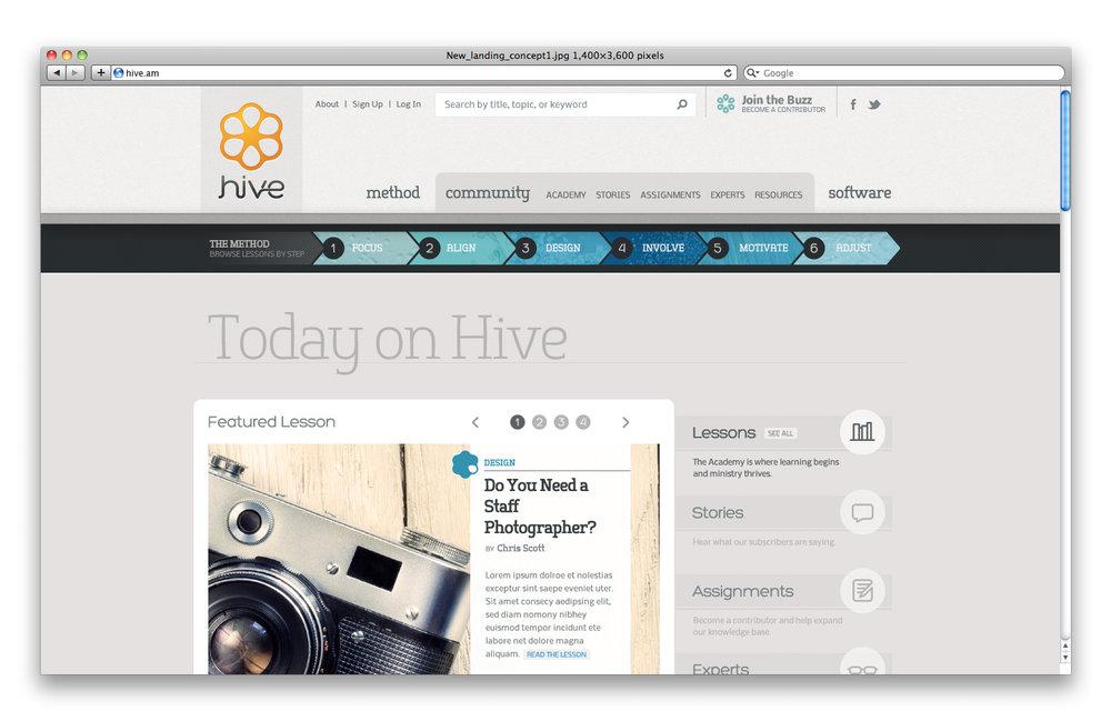 Hive_homepage_screenshot1