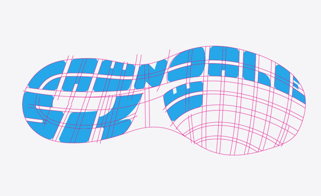 5K lettering.Image copyright Jeff Miller, HellothisisJeff Design LLC
