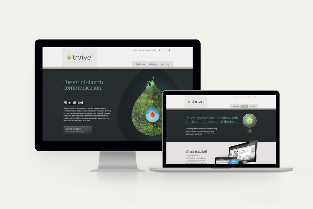 Thrive website design.Image copyright Jeff Miller, HellothisisJeff Design LLC