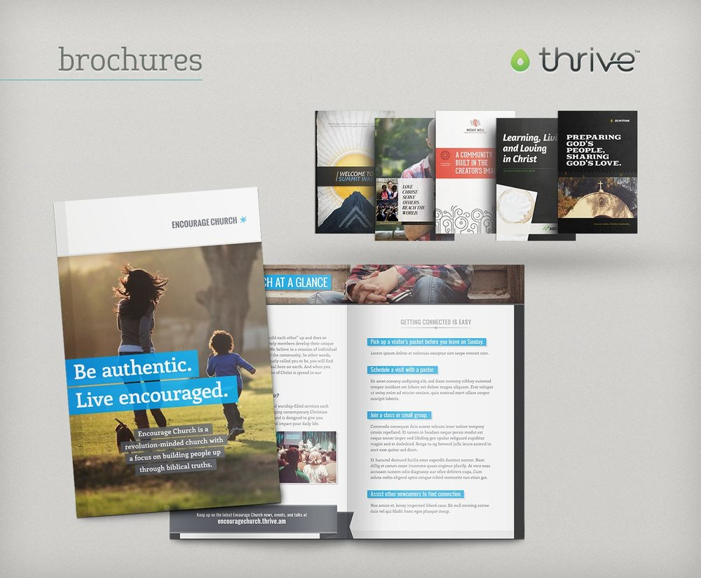 Thrive brochure themes