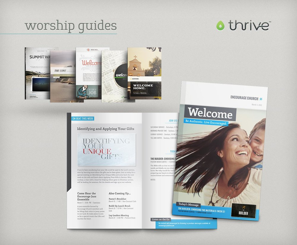 Thrive worship guide themes