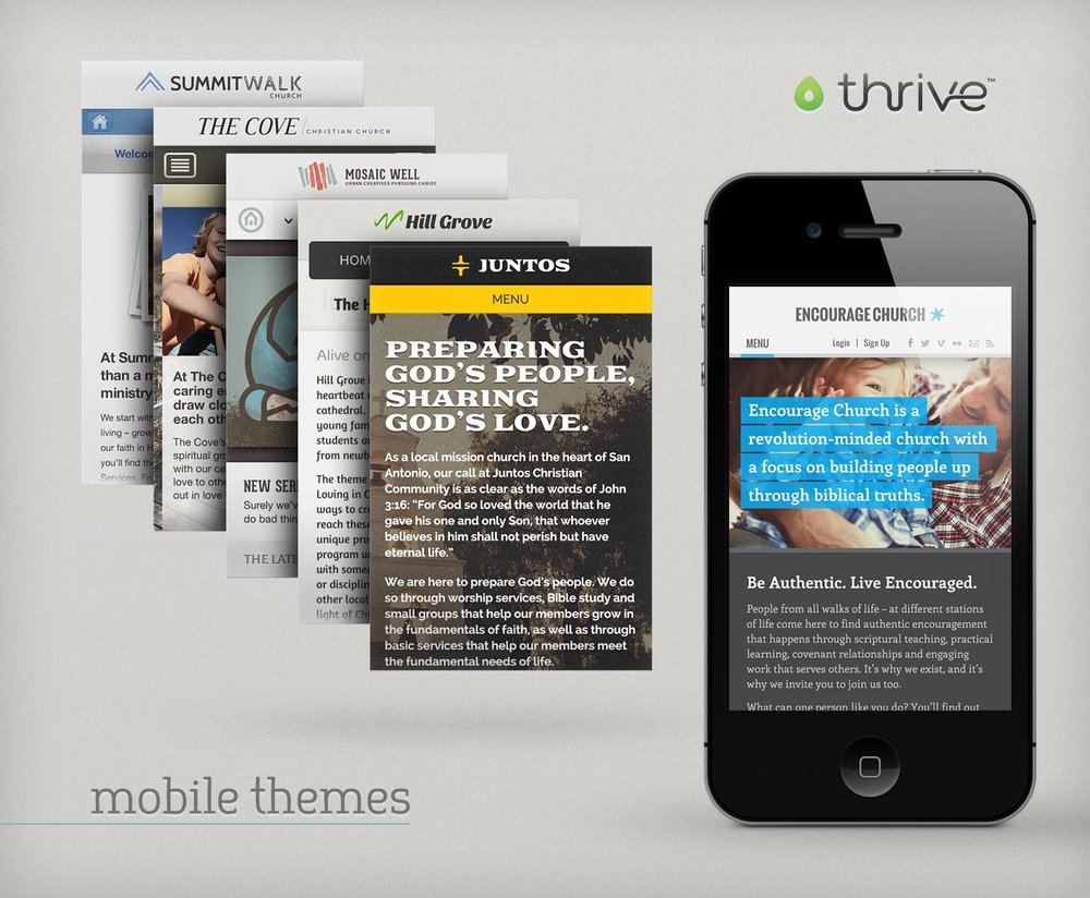 Thrive mobile themes