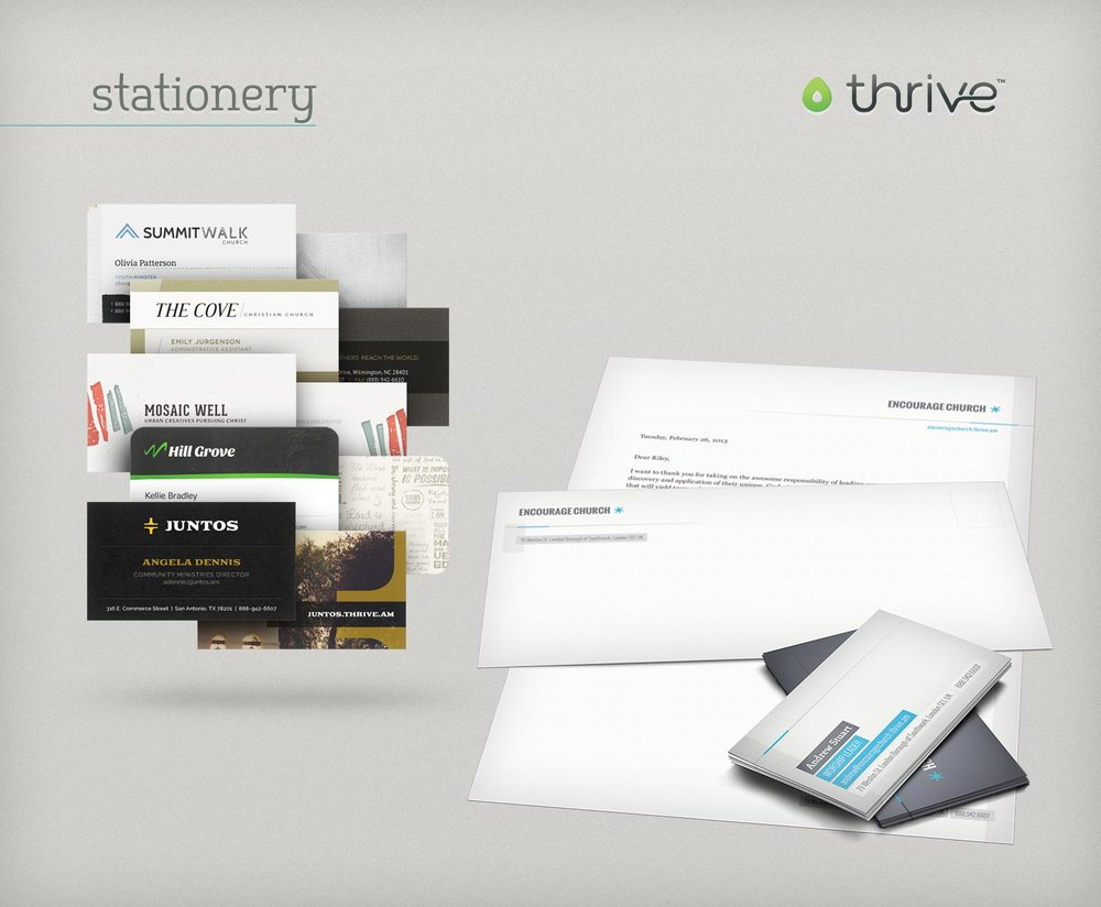 Thrive stationery themes