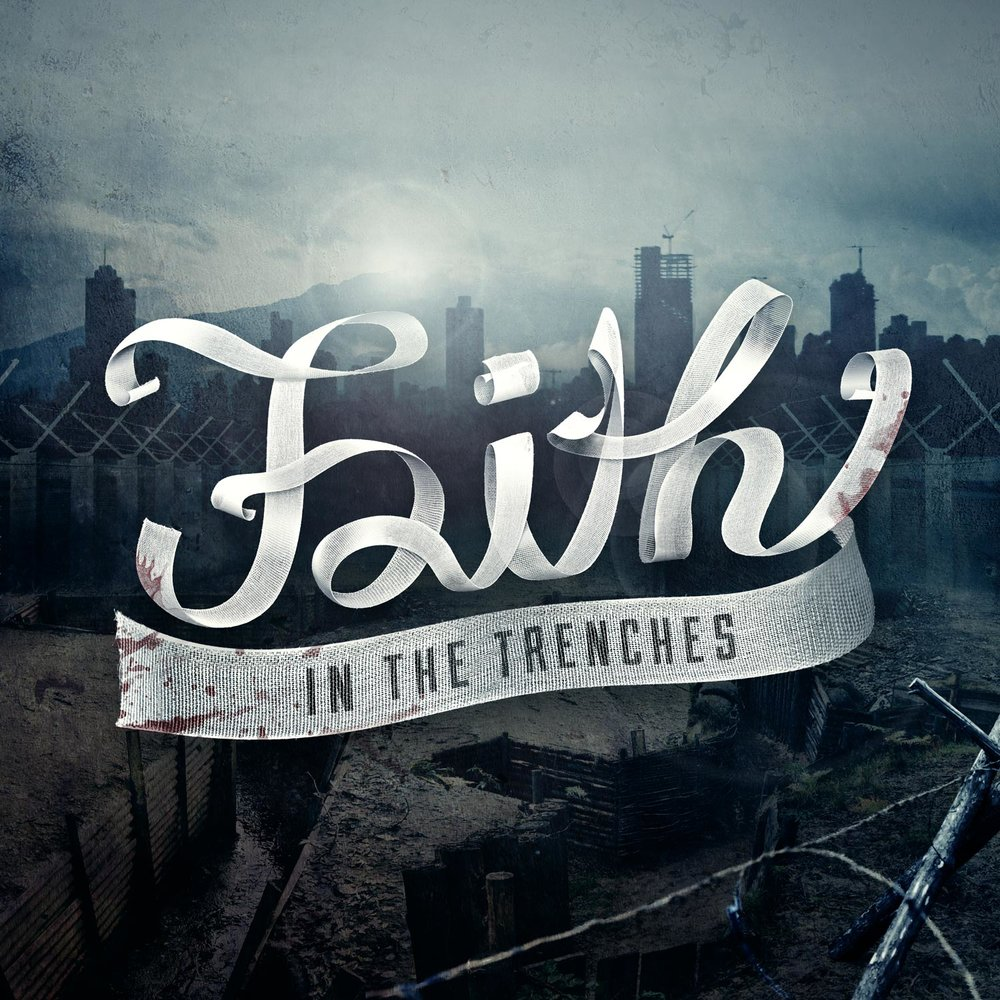Faith in the Trenches conference graphic. Image copyright Jeff Miller, HellothisisJeff Design LLC