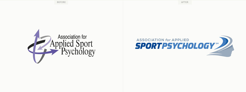 New logo for the Association for Applied Sport Psychology. Image copyright Jeff Miller, HellothisisJeff Design LLC