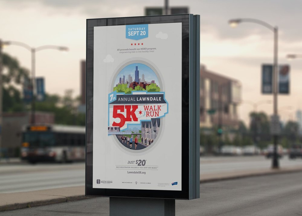 2014 Lawndale 5K street poster.Image copyright Jeff Miller, HellothisisJeff Design LLC