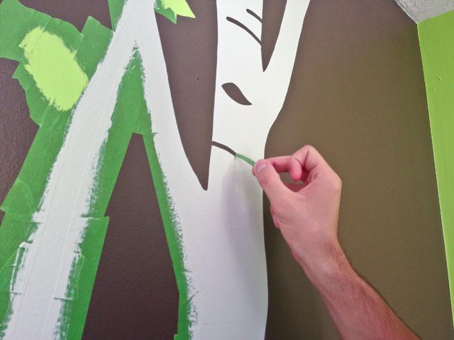 nursery mural step 12