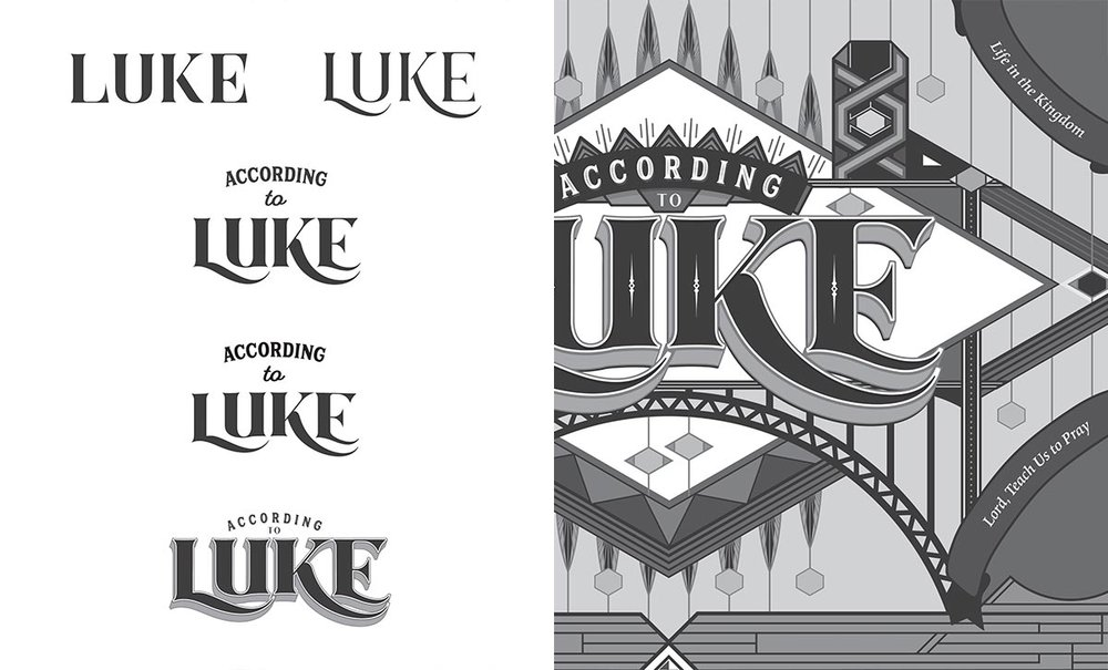Luke title construction. Image copyright Jeff Miller, HellothisisJeff Design LLC
