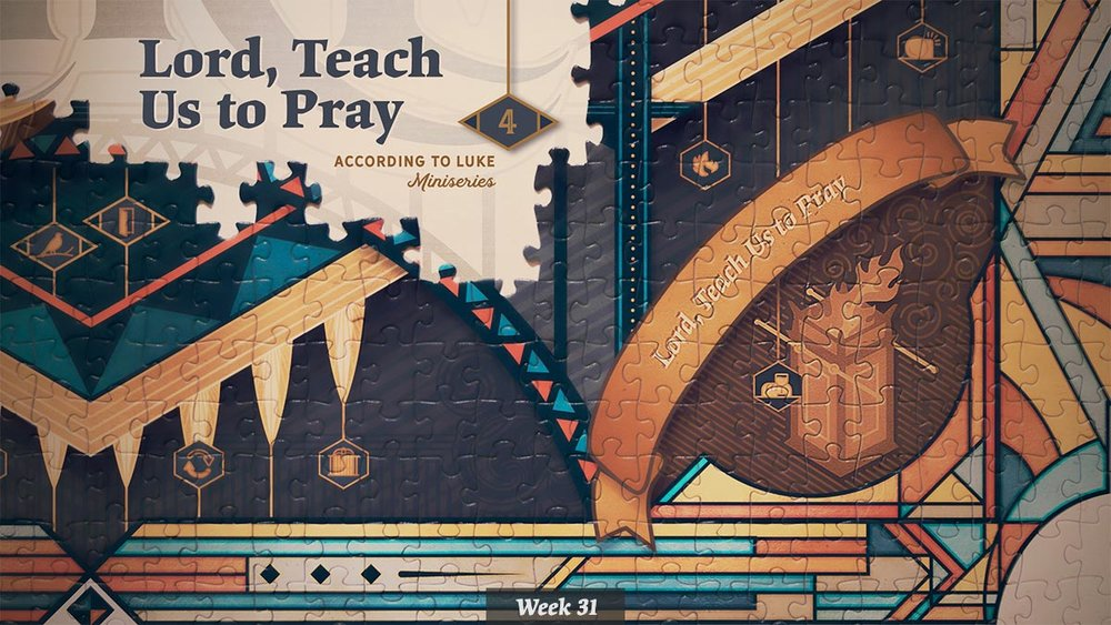 According to Luke – Lord, Teach Us to Pray miniseries graphic
