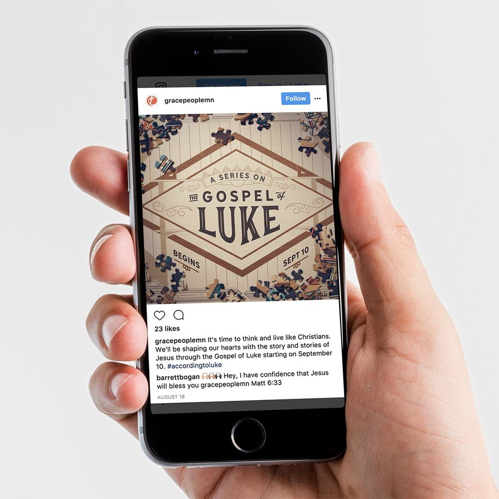 Luke series preview graphic on mobile