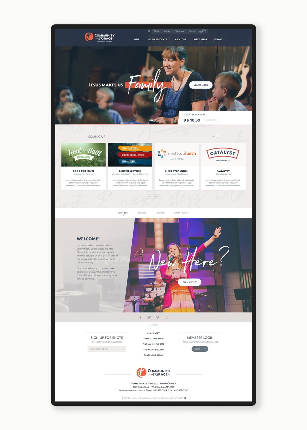 Community of Grace homepage 1