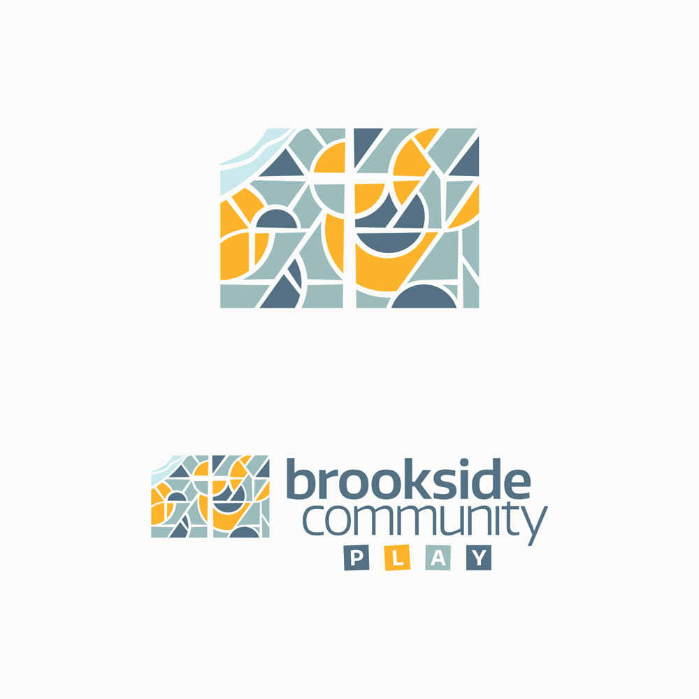 Brookside Community Play logo. Design by Jeff Miller, HellothisisJeff Design