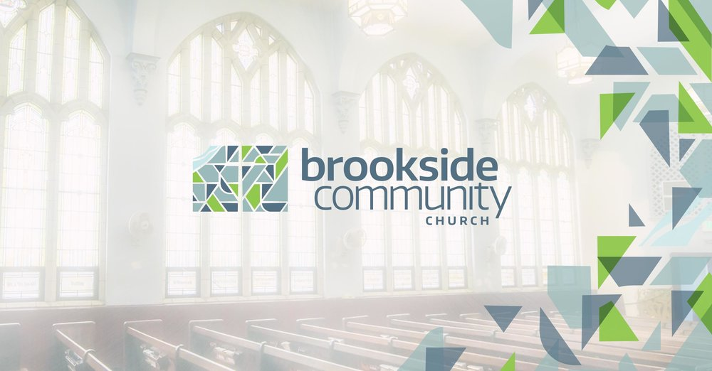 Brookside Community Church brand graphic. Design by Jeff Miller, HellothisisJeff Design