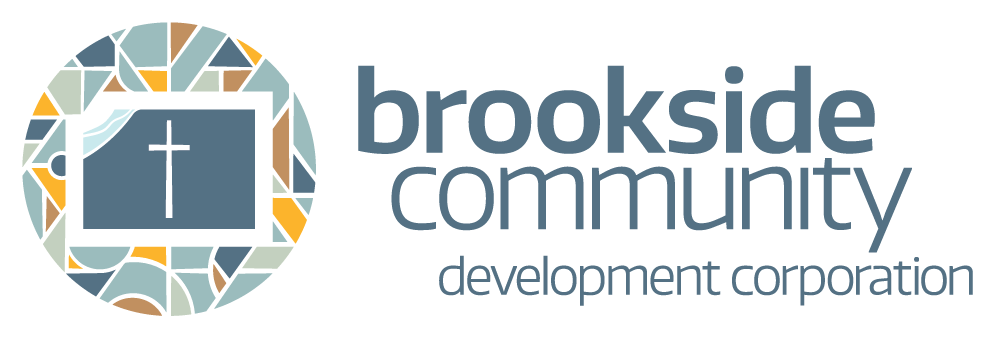 Brookside Community Development Corporation logo. Design by Jeff Miller, HellothisisJeff Design