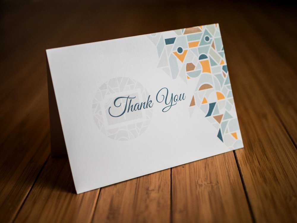 Brookside Community Development Corporation thank you notecard