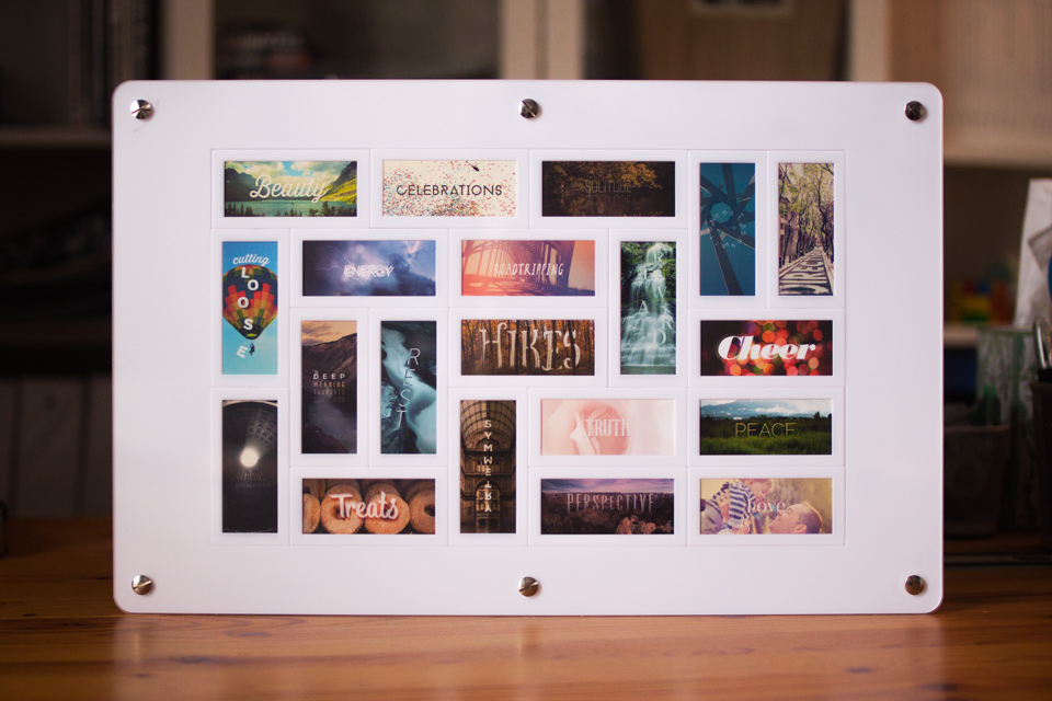 Favorite Things Moo mini cards frame