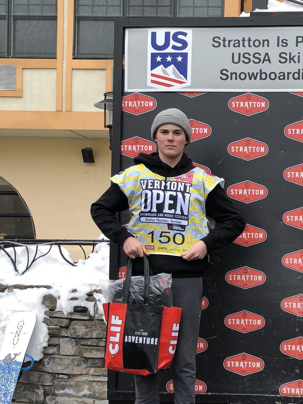 Otto Lichtensteiger, Silver Medalist in Banked Slalom Event