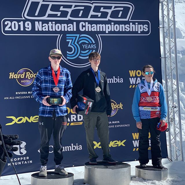 Congratulations to OMS/Okemo athletes who competed in #skiercross yesterday at @usasasnow Nationals at @coppermtn !! . . .  Paul Gleason - 2nd 🥈 Patrick Young - 3rd 🥉 Travis Blake - 8th . . .  #skiacademy #ski #freeski #winteracademy #skivermont #OMS #okemomountainschool #okemomountain #vermont #skiercross #usasa #usasanationals #usasanationals2019