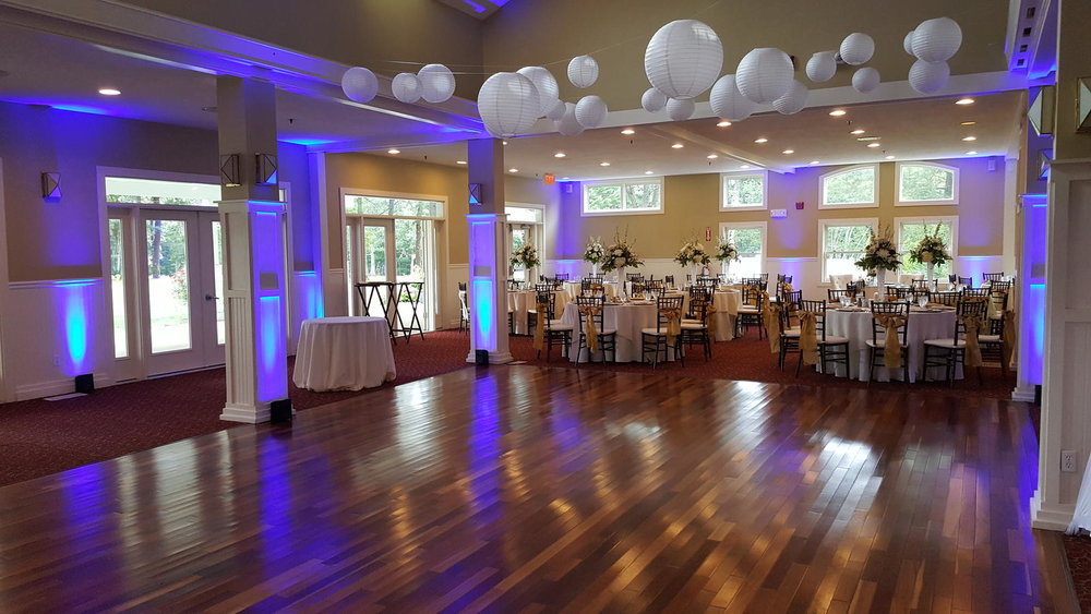 It's Easily Arranged - Lights are positioned around the room, dance floor, or even outside to help add warmth, depth, a splash of color through out the entire space.
