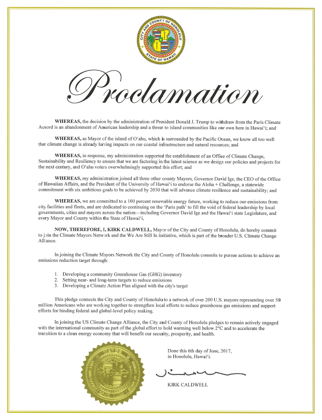 Mayor's Proclamation - Paris Agreement.PNG