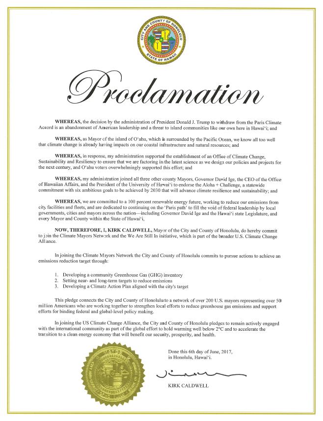 Mayor's Proclamation - Paris Agreement.PNG