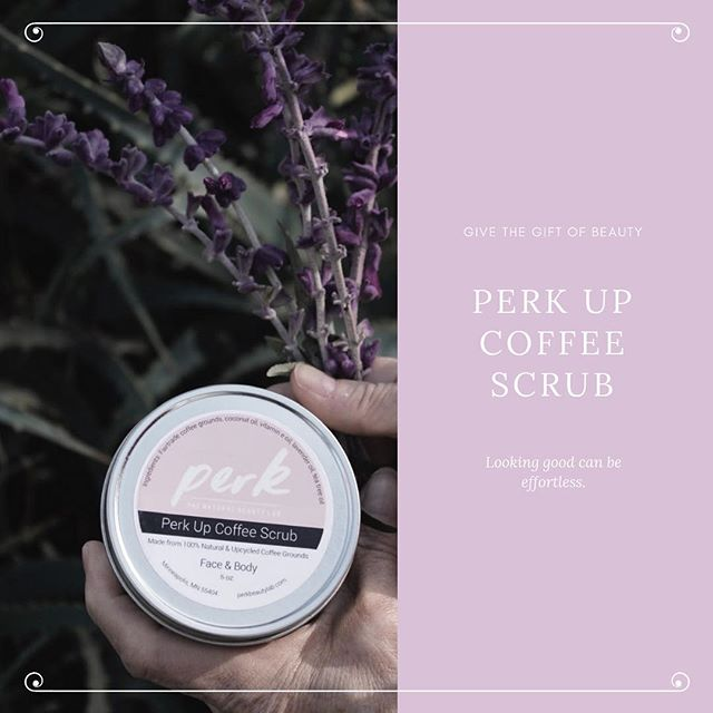 With Valentines Day quickly approaching, you're probably scrambling to find the perfect gift for your loved one. ———— With a sweet aroma of coffee infused with lavender, coconut oil, and other goodies, why not give your sweetheart the gift of healthy skin? They'll fall in love with the smell and the way our scrub feels against their skin! ———— Get your orders in ASAP at perkbeautylab.com 💕