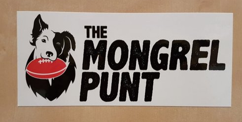 Hey look - it's a Mongrel Punt bumper sticker. Whack it on your car or give it to someone you dislike a bit. Seriously though, if you buy one, it helps the site immensely. Click the pic.