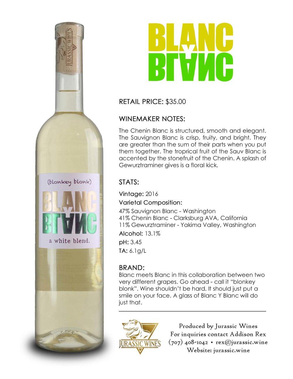 Blanc Y Blanc - Tech Sheet