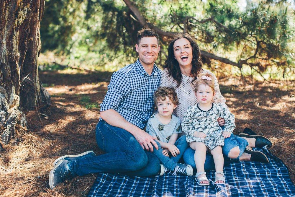 Family picnic portrait