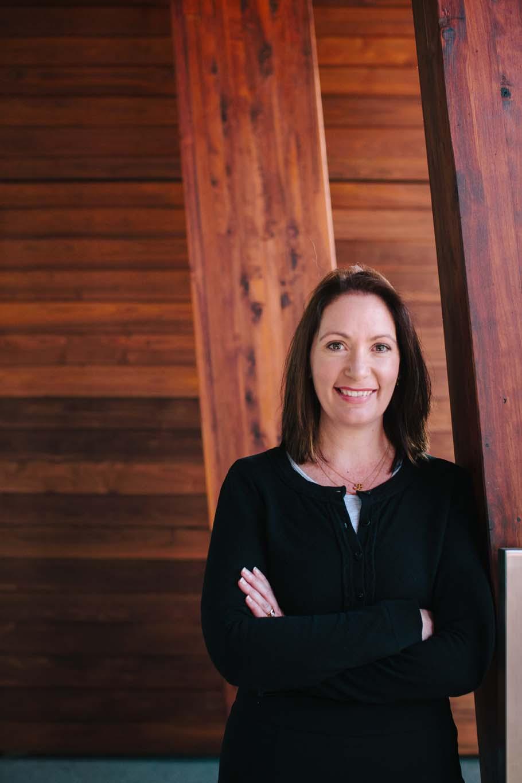 Melbourne corporate photo - woman in deep black
