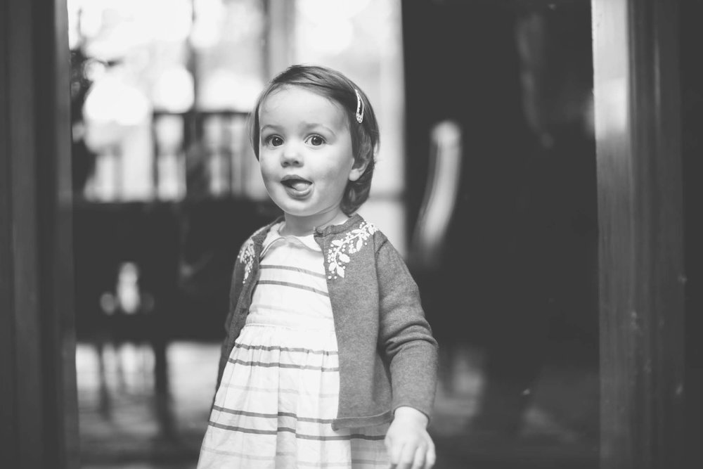Little girl caught in candid snap at home